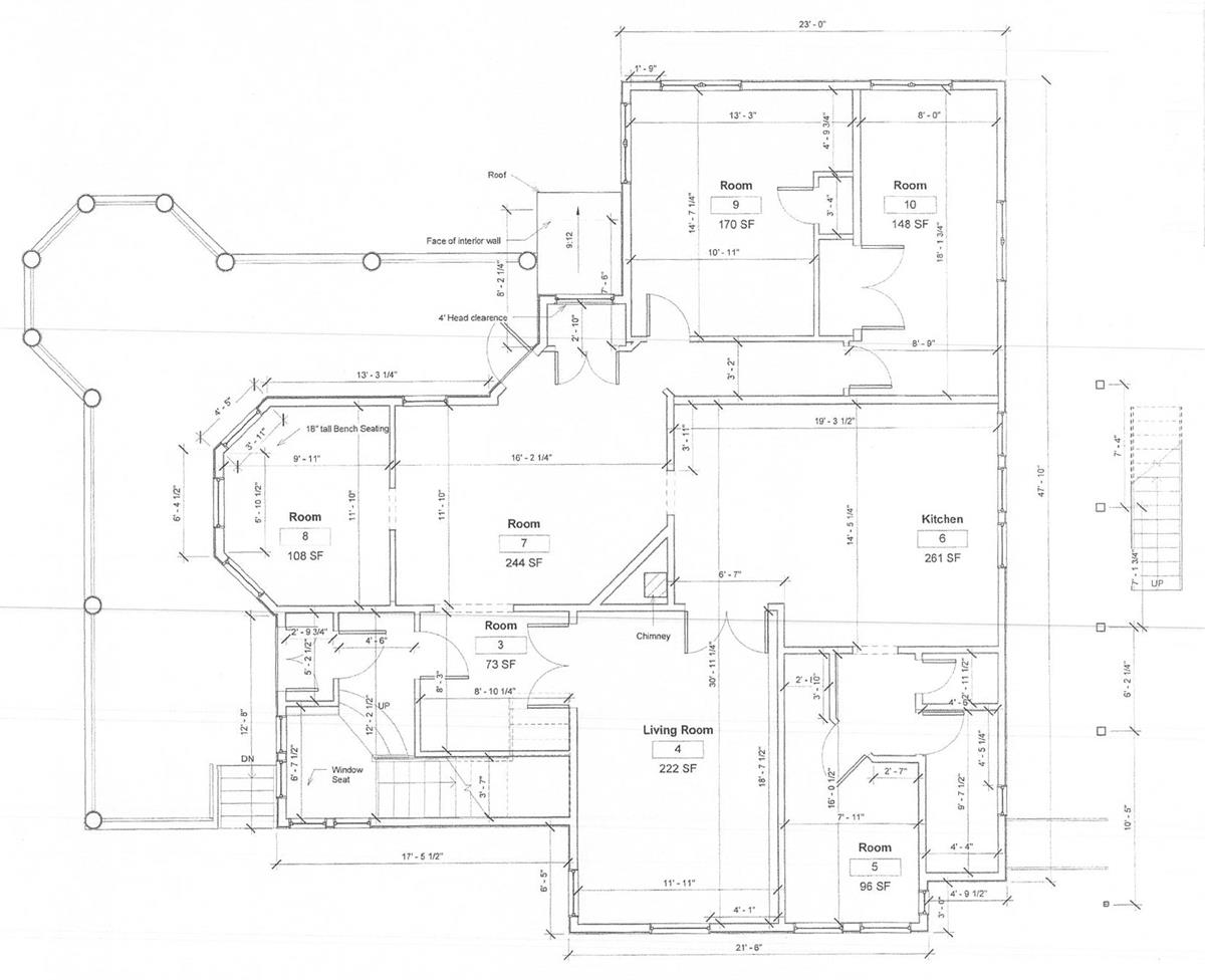 houses to rent near collegetown ithaca 117 Dewitt Place apartment 1 first floor plan