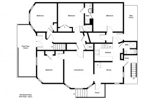 student apartment for rent near Cornell floor plan